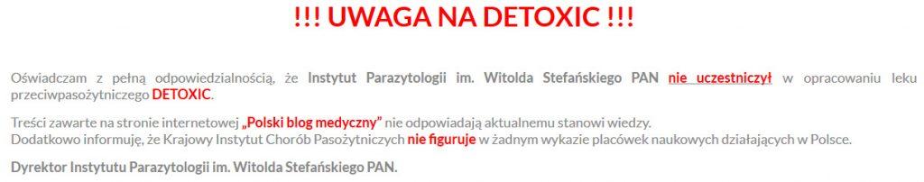 detoxic na pasożyty