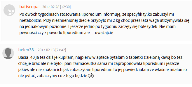 liporedium opinie o tabletkach